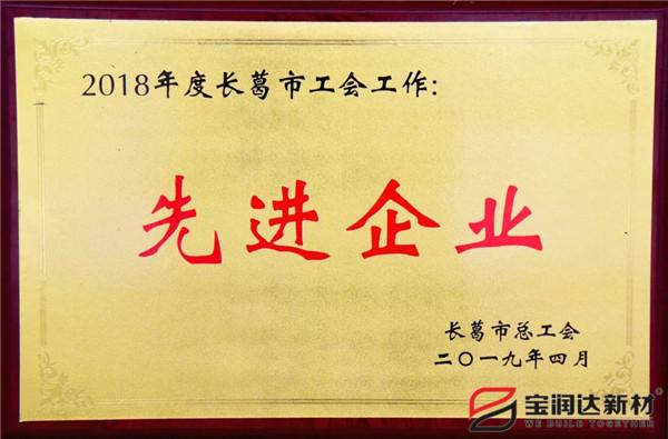 """宝润达集团获评""""工会工作先进企业"""""""